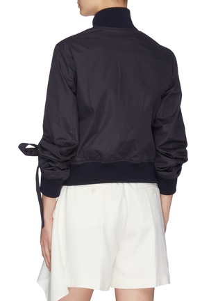 Back View - Click To Enlarge - JW ANDERSON - High neckband gathered sleeve bomber jacket