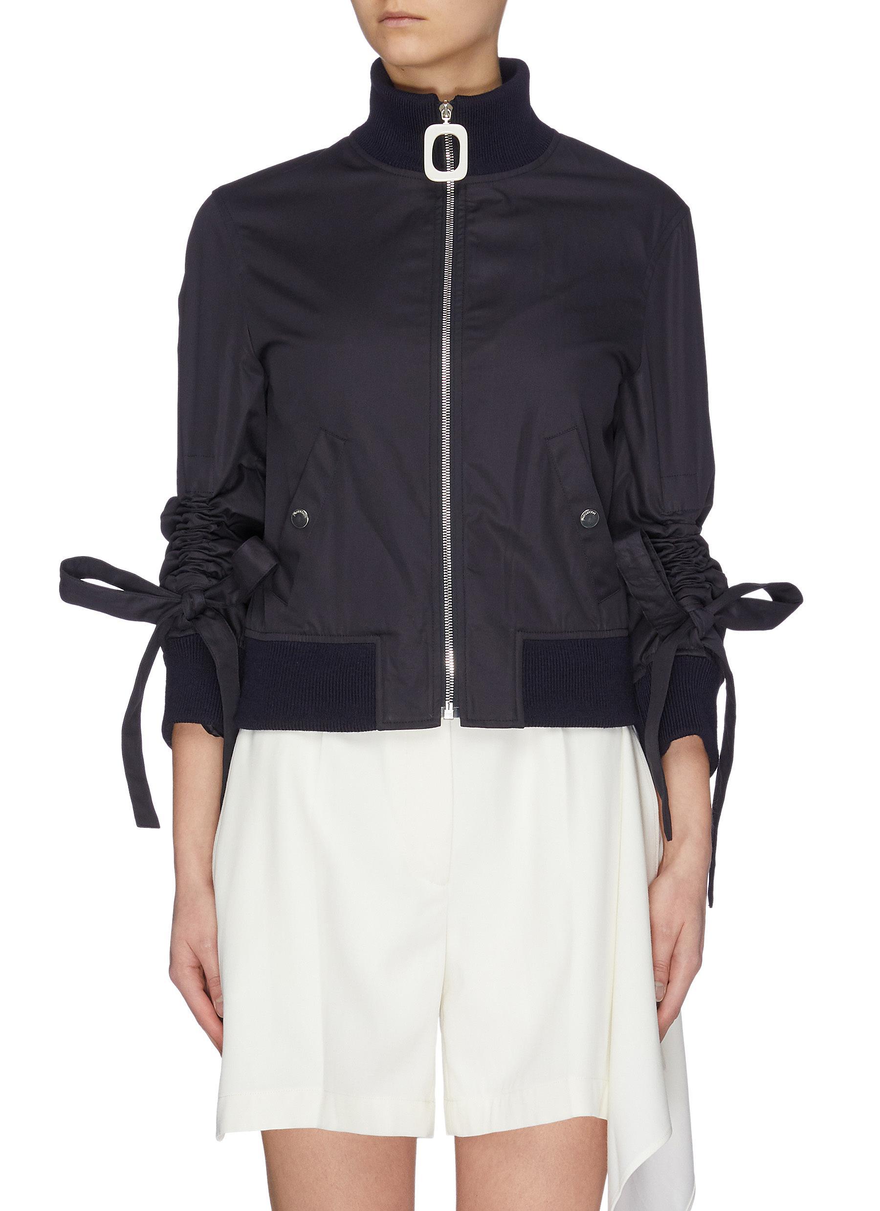shop Jw Anderson High neckband gathered sleeve bomber jacket online