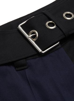 - JW ANDERSON - Handkerchief drape detail belted colourblock pants