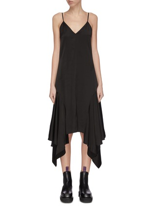 Main View - Click To Enlarge - JW ANDERSON - Drape tabs slip satin midi dress