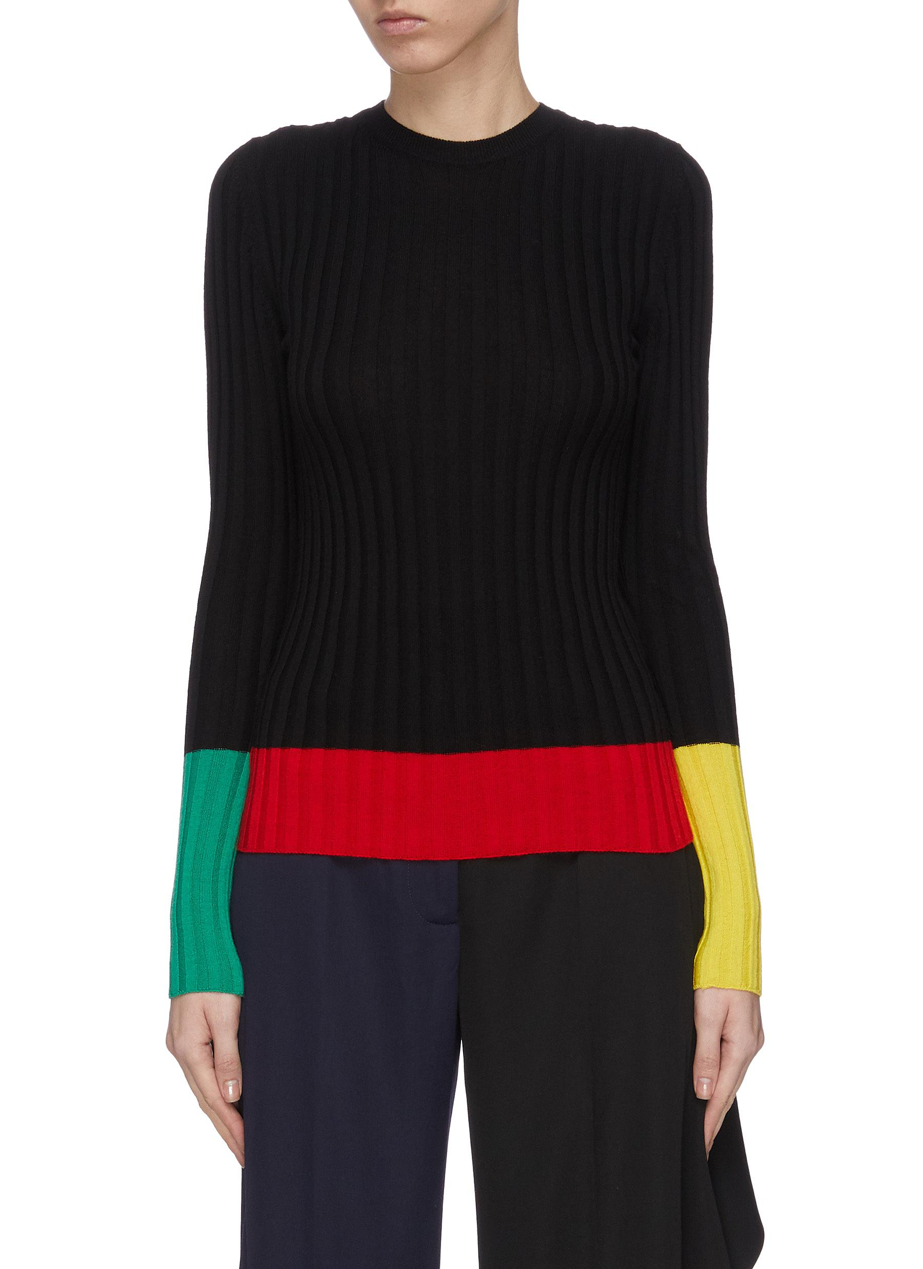 shop Jw Anderson Colourblock merino wool rib sweater online