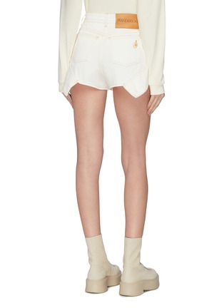 Back View - Click To Enlarge - JW ANDERSON - Flared cuff contrast topstitch mini shorts