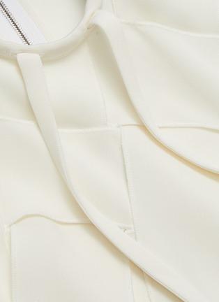 - JW ANDERSON - Basketweave fluid faille ribbon blouse