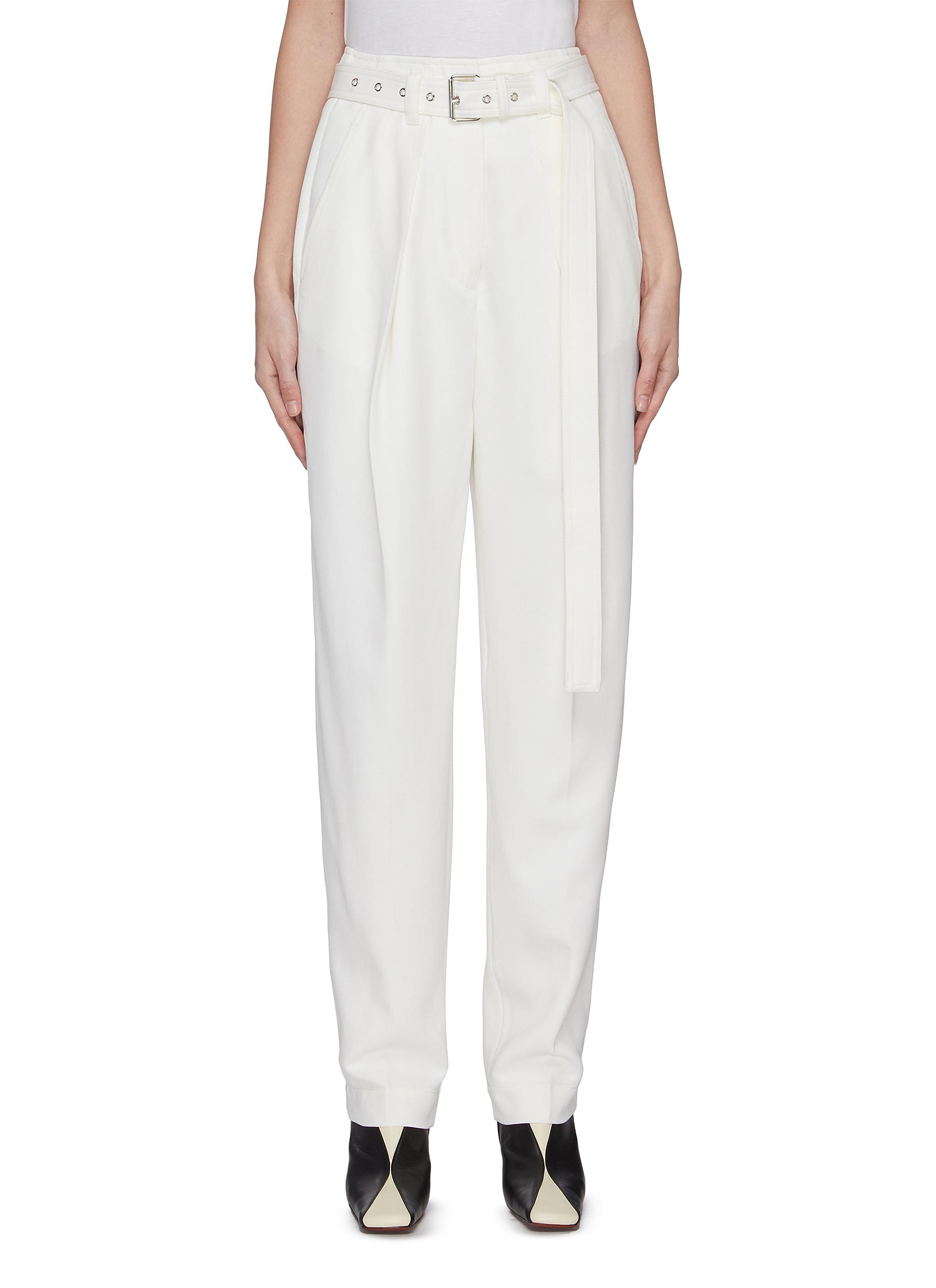 shop Jw Anderson Belted wool tailored pants online