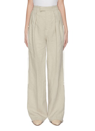 Main View - Click To Enlarge - JW ANDERSON - Double dart front washed linen tailored pants