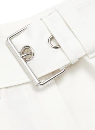 - JW ANDERSON - Asymmetric side handkerchief drape belted mini shorts