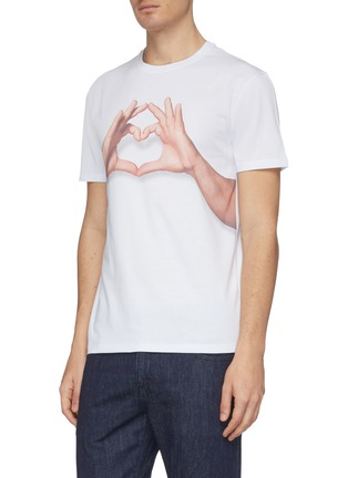 Detail View - Click To Enlarge - ISAIA - Gesture print T-shirt 4-pack set