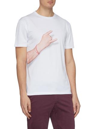- ISAIA - Gesture print T-shirt 4-pack set