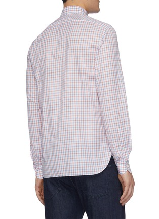 Back View - Click To Enlarge - ISAIA - 'Parma' check button-up shirt