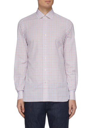 Main View - Click To Enlarge - ISAIA - 'Parma' check button-up shirt