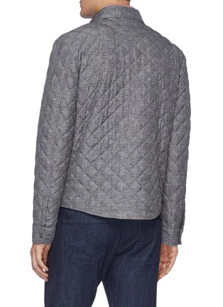 Back View - Click To Enlarge - ISAIA - Snap front light quilt shirt jacket