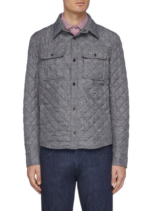 Main View - Click To Enlarge - ISAIA - Snap front light quilt shirt jacket