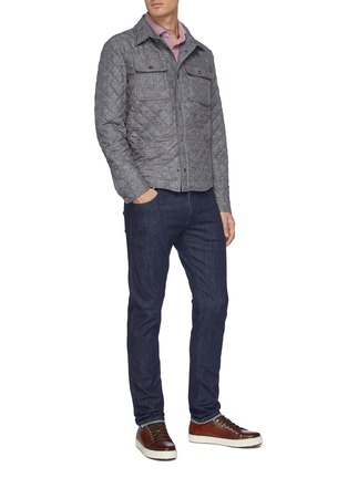Figure View - Click To Enlarge - ISAIA - Snap front light quilt shirt jacket