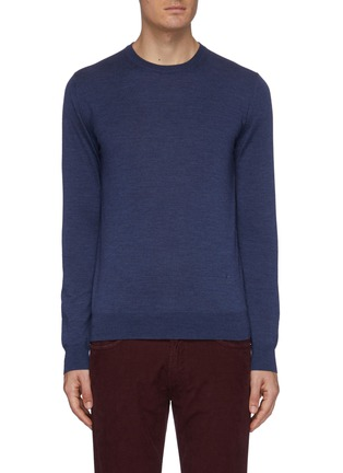 Main View - Click To Enlarge - ISAIA - Crew neck merino wool sweater