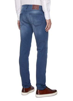 Back View - Click To Enlarge - ISAIA - Medium wash slim fit jeans