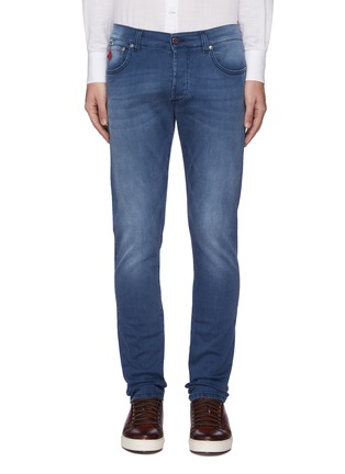 Main View - Click To Enlarge - ISAIA - Medium wash slim fit jeans