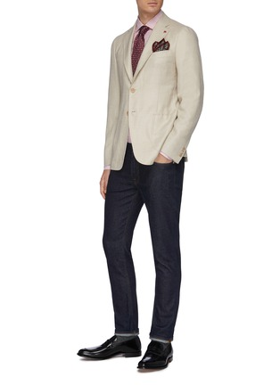 Figure View - Click To Enlarge - ISAIA - 'Cortina' notch lapel wool blend blazer