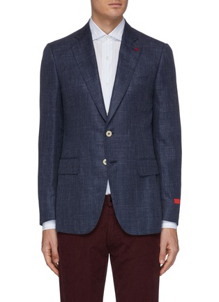 Main View - Click To Enlarge - ISAIA - 'Gregorio' silk blend blazer