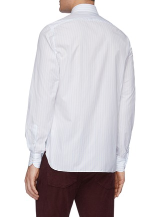 Back View - Click To Enlarge - ISAIA - 'Milano' stripe button down shirt