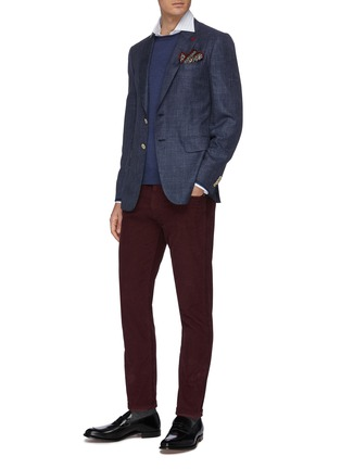 Figure View - Click To Enlarge - ISAIA - 'Milano' stripe button down shirt