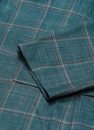 - ISAIA - 'Cortina' notch lapel check wool blend suit