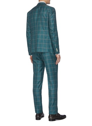 Back View - Click To Enlarge - ISAIA - 'Cortina' notch lapel check wool blend suit