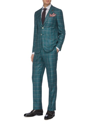 Figure View - Click To Enlarge - ISAIA - 'Cortina' notch lapel check wool blend suit
