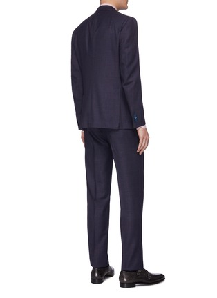 Back View - Click To Enlarge - ISAIA - 'Gregorio' notch lapel wool-silk blend suit
