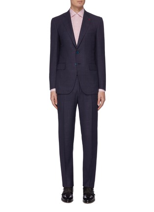 Main View - Click To Enlarge - ISAIA - 'Gregorio' notch lapel wool-silk blend suit