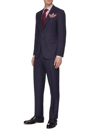 Figure View - Click To Enlarge - ISAIA - 'Gregorio' notch lapel wool-silk blend suit