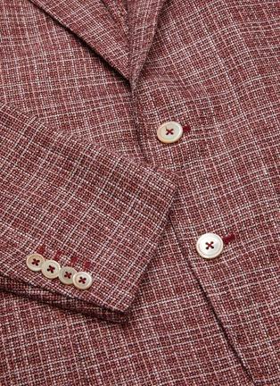 - ISAIA - 'Cortina' notch lapel wool blend blazer