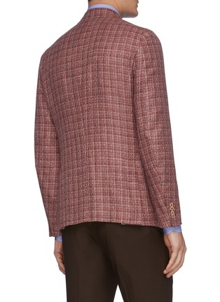 Back View - Click To Enlarge - ISAIA - 'Cortina' notch lapel wool blend blazer