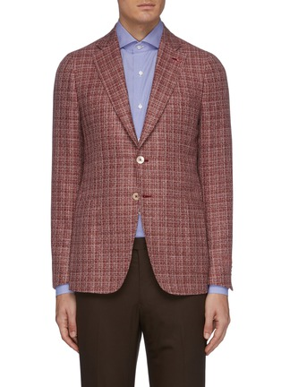 Main View - Click To Enlarge - ISAIA - 'Cortina' notch lapel wool blend blazer