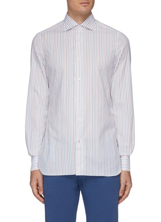Main View - Click To Enlarge - ISAIA - 'Milano' stripe button down shirt