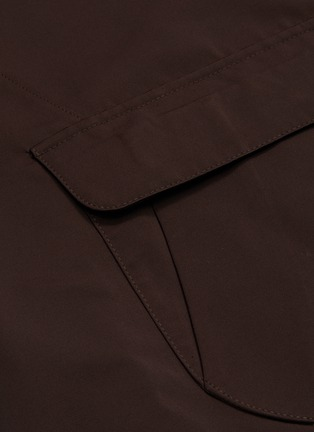 - ISAIA - Contrasting lining water repellent button-down coat
