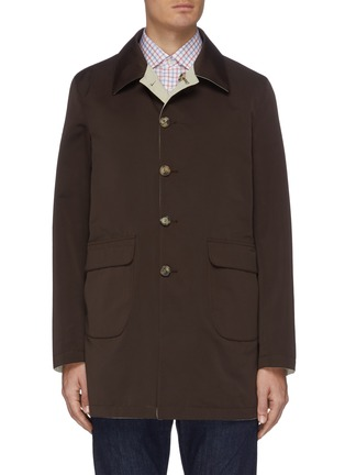 Main View - Click To Enlarge - ISAIA - Contrasting lining water repellent button-down coat