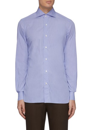 Main View - Click To Enlarge - ISAIA - 'Leuca' gingham button down shirt
