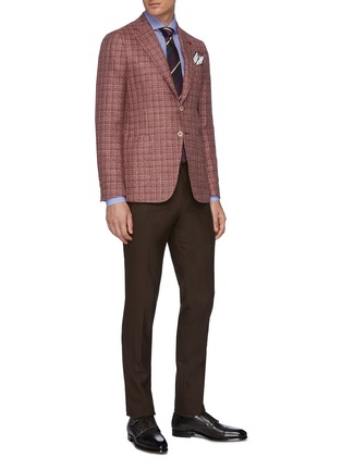 Figure View - Click To Enlarge - ISAIA - 'Leuca' gingham button down shirt