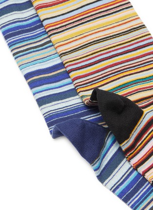 Detail View - Click To Enlarge - PAUL SMITH - Colorblock stripe socks pack