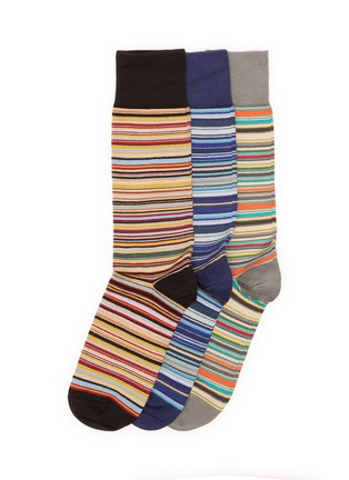 Main View - Click To Enlarge - PAUL SMITH - Colorblock stripe socks pack