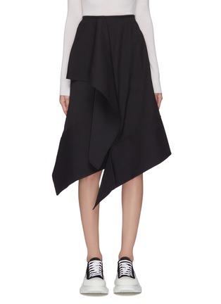 Main View - Click To Enlarge - FFIXXED STUDIOS - Asymmetric ruffled hem midi skirt