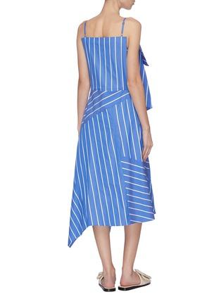 Back View - Click To Enlarge - FFIXXED STUDIOS - Asymmetric stripe panel dress