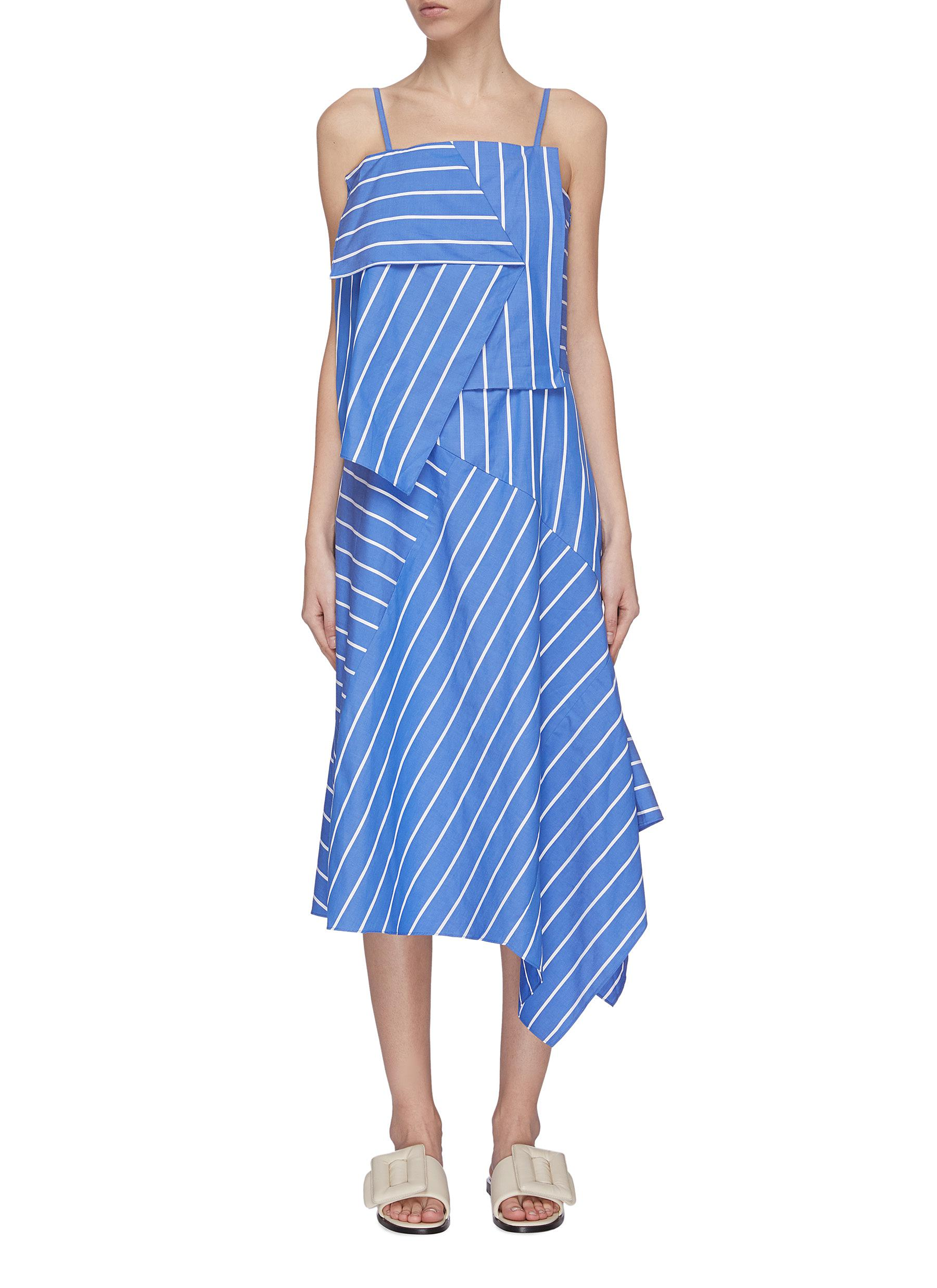 Buy Ffixxed Studios Dresses Asymmetric stripe panel dress