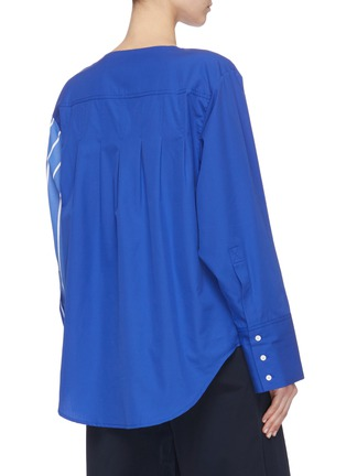 Back View - Click To Enlarge - FFIXXED STUDIOS - Stripe panel blouse