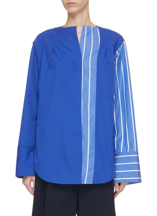 Main View - Click To Enlarge - FFIXXED STUDIOS - Stripe panel blouse