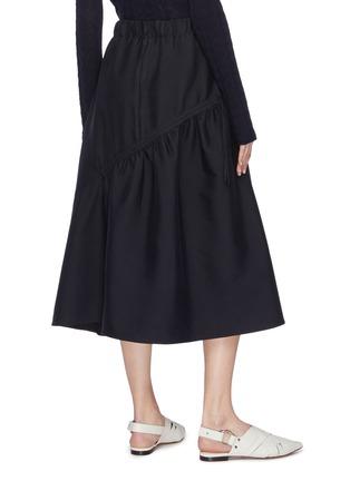 Back View - Click To Enlarge - FFIXXED STUDIOS - Asymmetric ruffle drape skirt