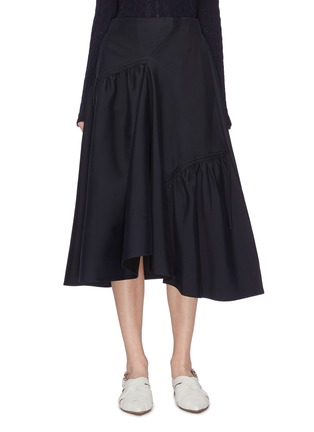 Main View - Click To Enlarge - FFIXXED STUDIOS - Asymmetric ruffle drape skirt