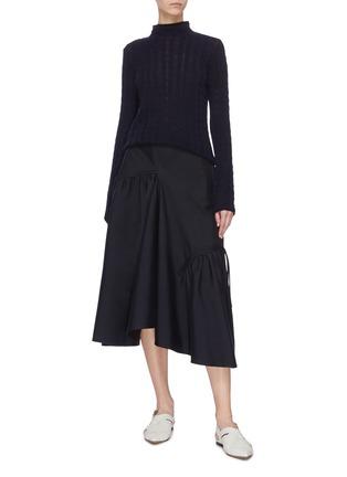 Figure View - Click To Enlarge - FFIXXED STUDIOS - Asymmetric ruffle drape skirt