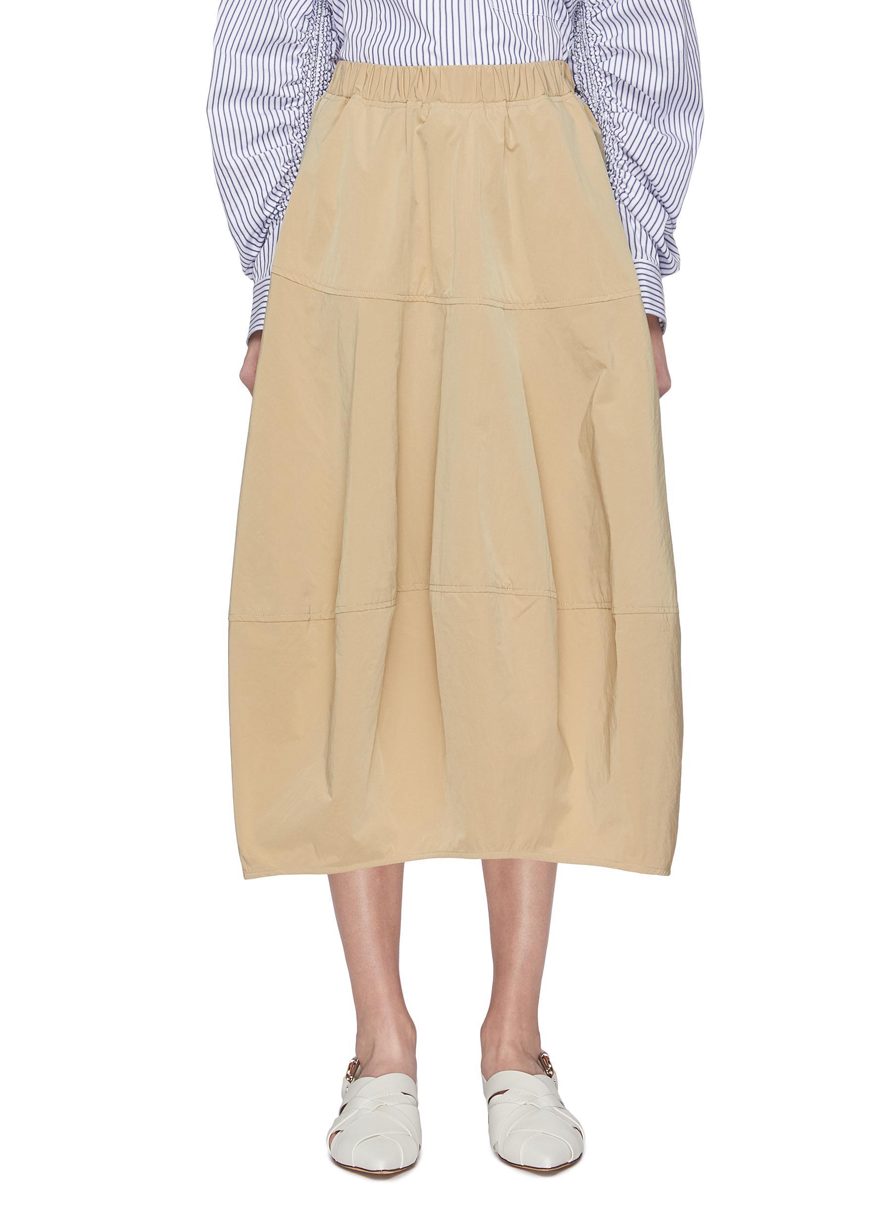shop Ffixxed Studios Elastic waist volume maxi skirt online