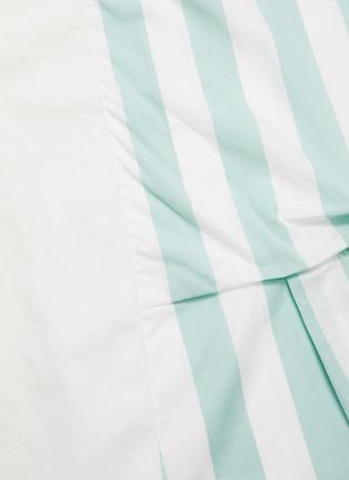 - FFIXXED STUDIOS - Asymmetric pin tuck detail stripe panel T-shirt dress